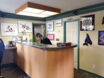 front desk of motel